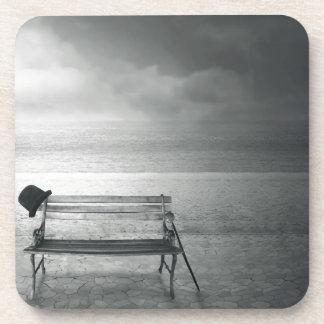 Art déco negro y blanco del arte de la foto, vinta posavasos