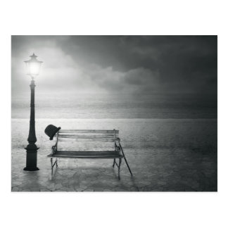 Art déco negro y blanco del arte de la foto, vinta tarjetas postales