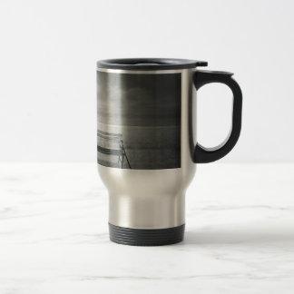 Art déco negro y blanco del arte de la foto vinta taza