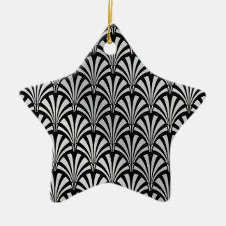 Art déco negro y de plata elegante adorno de navidad