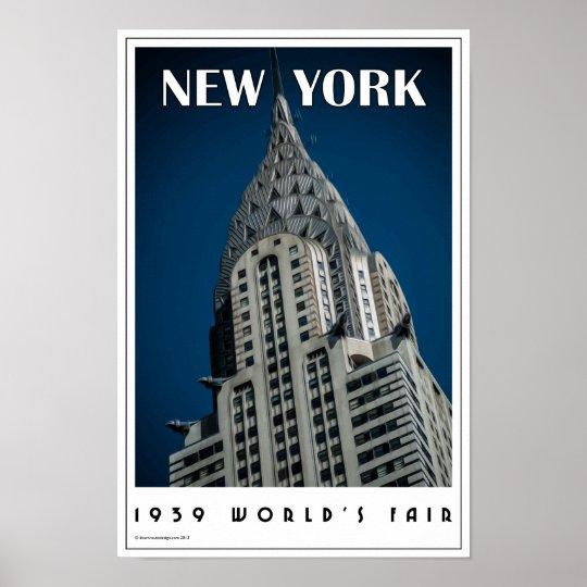 Art Deco Poster New York.Art Deco New York Poster