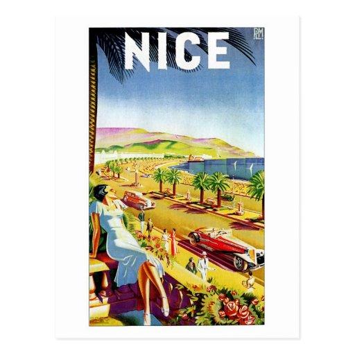 Art Deco Nice French riviera Postcard
