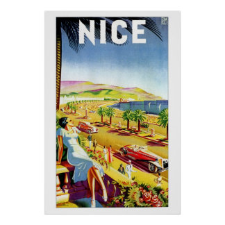 Art Deco Nice French riviera Poster
