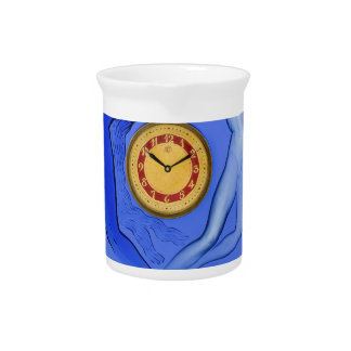 Art Deco Night & Day glass clock. Beverage Pitcher