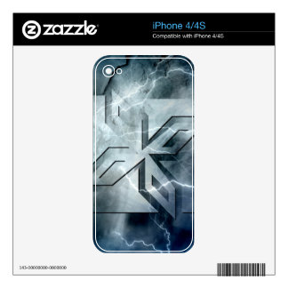 Art Deco Ninja Star Icon, Galaxy lightning overlay Decal For iPhone 4