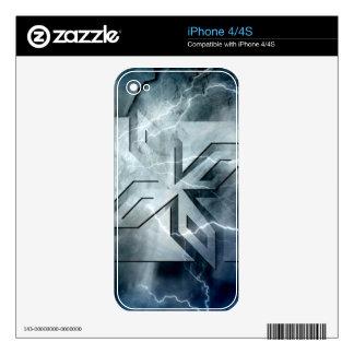 Art Deco Ninja Star Icon, Galaxy lightning overlay iPhone 4S Decal