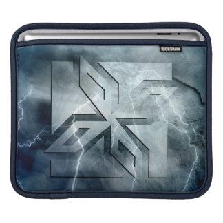 Art Deco Ninja Star Icon, Galaxy lightning overlay Sleeves For iPads