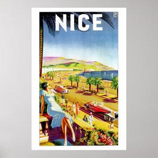 Art déco Niza riviera francesa Posters