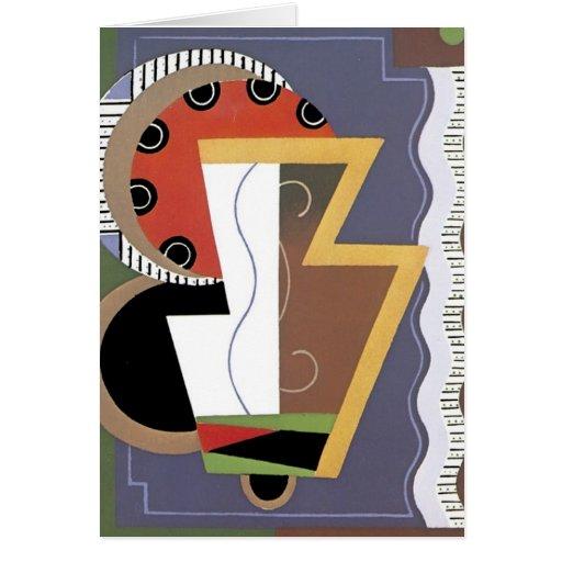 Art déco Notecard Tarjetas