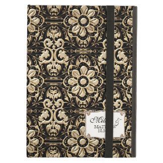 Art Deco Nouveau Faux Gold Floral Damask Lace iPad Air Cover