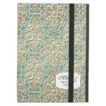 Art Deco Nouveau Faux Gold Floral Damask Lace iPad Case