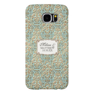Art Deco Nouveau Faux Gold Floral Damask Lace Samsung Galaxy S6 Case
