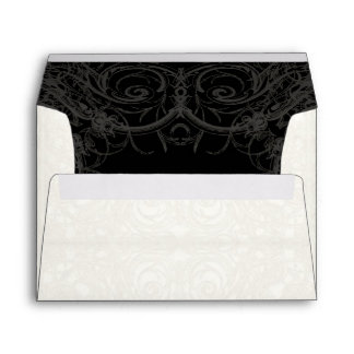 Art Deco Nouveau Gatsby Style Gold n Lace Look Envelope