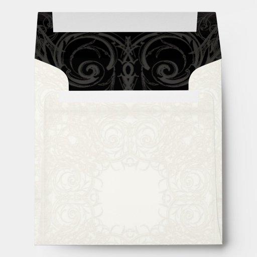 Art Deco Nouveau Gatsby Style Gold n Lace Look Envelopes