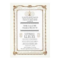 Art Deco Nouveau Gatsby Style Gold n Lace Look Invites (<em>$2.30</em>)