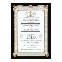 Art Deco Nouveau Gatsby Style Gold n Lace Look Invites (<em>$2.43</em>)