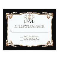 Art Deco Nouveau Gatsby Style Gold n Lace Look Invite (<em>$2.38</em>)