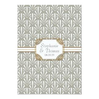 Art Deco Nouveau Modern Fan Shell Pattern Card