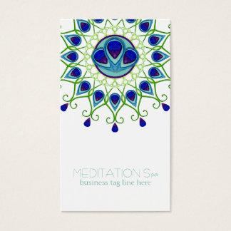 Art Deco Nouveau Peacock Feather Modern Business Business Card