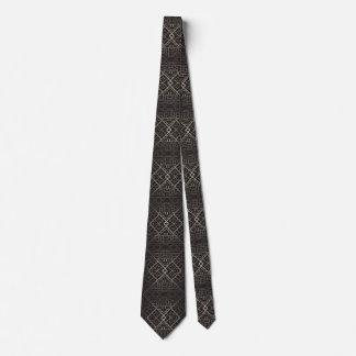 Art deco,nouveau,silver,black,elegant,chic,pattern neck tie