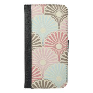 art deco,nouveau,vintage,pattern,retro,pastels,gir iPhone 6/6s plus wallet case