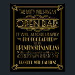 "ART Deco Open bar sign for 1920&#39;s Gatsby Party<br><div class=""desc"">ART Deco Open bar sign for 1920&#39;s Gatsby Party or wedding print</div>"