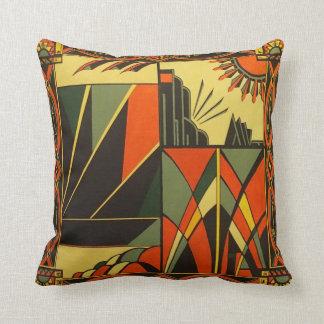 Art Deco Orange Cushion