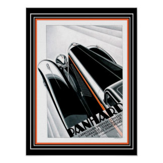 Art Deco Panhard Ad- Alex Kow (1932) Poster