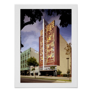 Art Deco Paramount theatre Oakland painting Posters