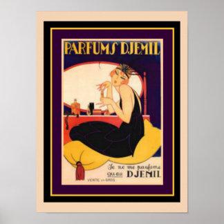 Art Deco Parfums Djemil 12 x 16 Poster
