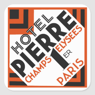 Art Deco Paris French hotel label remake