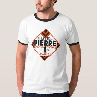 Art Deco Paris French hotel label remake Tee Shirt