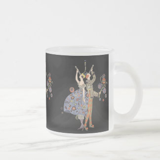 Art Deco Party Dancers Vintage WW 1 Poster Design Frosted Glass Coffee Mug