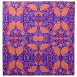 Art Deco Pattern - Bold Purple and Orange Napkin