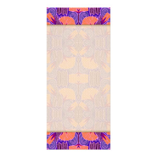 Art Deco Pattern - Bold Purple and Orange Rack Card