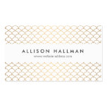 Art Deco Pattern in Gold Business Card Templates