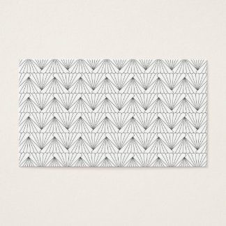 ART DECO PATTERN in GRAY Business Card