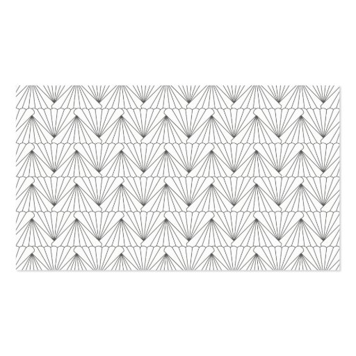 ART DECO PATTERN in GRAY Double-Sided Standard Business Cards (Pack Of 100)