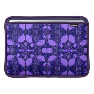 Art Deco Pattern in Purple and Dark Blue MacBook Sleeve