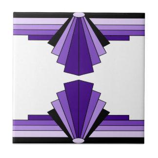Art Deco Pattern in Purples Tile