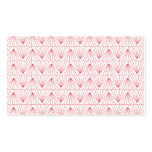 ART DECO PATTERN in RED Business Card Templates