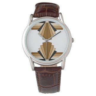 Art Deco Pattern in Tans Wrist Watch