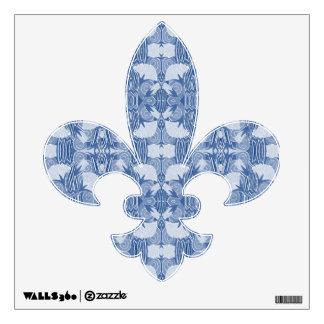 Art Deco Pattern - Light Blue Shades Wall Graphics