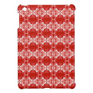 Art Deco pattern - red and white iPad Mini Cover