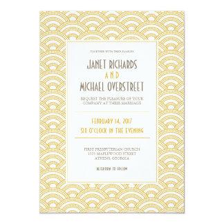 "Art Deco Pattern Wedding Invitation 5"" X 7"" Invitation Card"