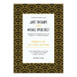 Art Deco Pattern Wedding Invitation
