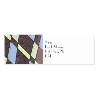 Art Deco Patterned Profile Card