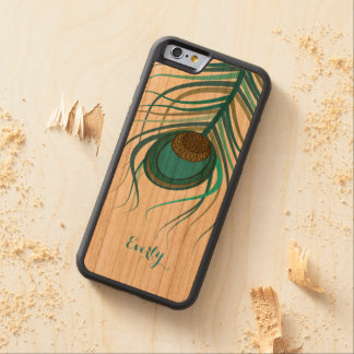 Art Deco Peacock feather Carved® Cherry iPhone 6 Bumper