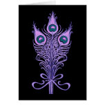 Art Deco Peacock Feathers Wedding Theme Greeting Cards