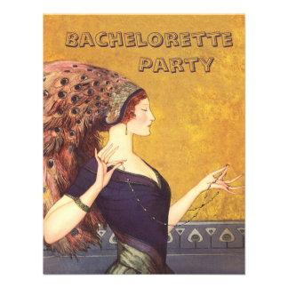 Art Deco Peacock Flapper Bachelorette Party Announcement